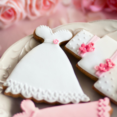 favours: Wedding cookies Stock Photo