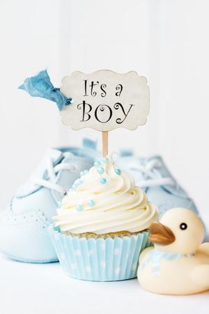 Baby douche cupcake Stockfoto