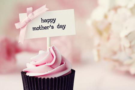 케이크: 어머니의 날 컵 케이크 스톡 사진