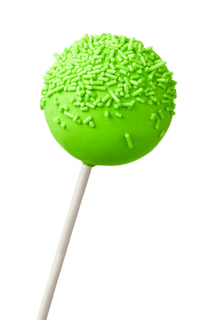 Green cake pop photo