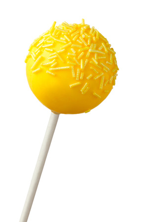 cake ball: Yellow cake pop