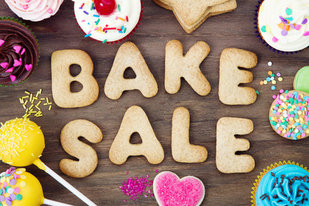 fundraiser: Bake sale cookies Stock Photo