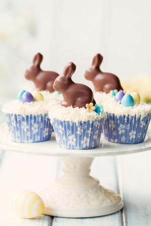 Easter bunny cupcakes photo