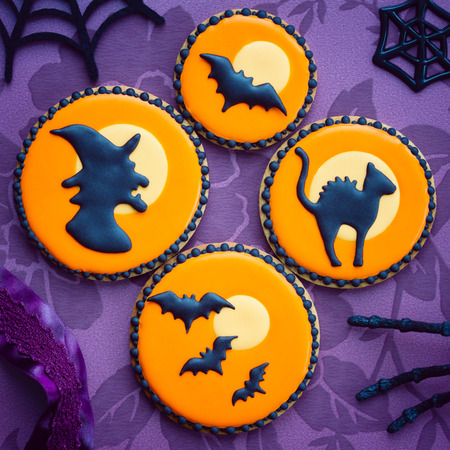 Cookies with a Halloween theme photo