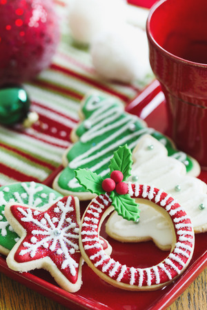 Cookies with a Christmas theme photo