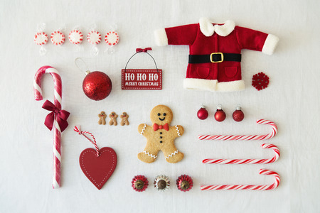 Collection of Christmas objects 스톡 콘텐츠