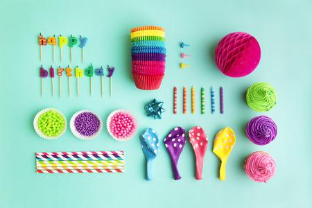 decoracion de pasteles: Vista aérea de cumpleaños colección objeto partido