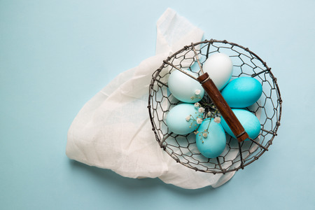 blue toned: Ombre Easter eggs