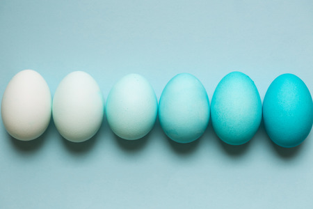 ombre: Row of ombre Easter eggs