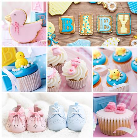 Colección de imágenes de la ducha del bebé Foto de archivo - 41077220
