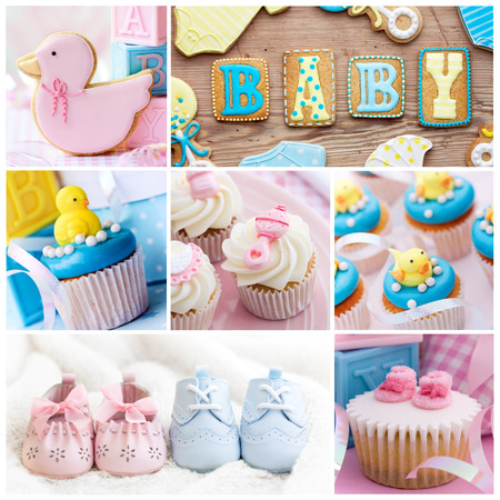 Collection of baby shower images