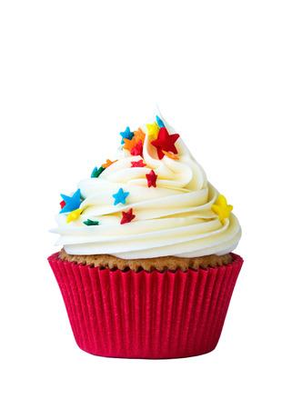 Cupcake isolé sur blanc Banque d'images - 42894464