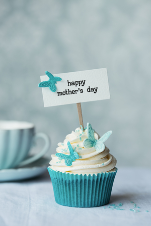 sugarpaste: Mothers day cupcake with butterflies