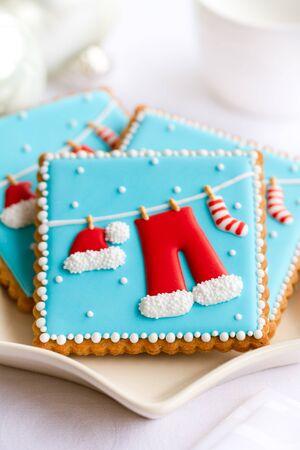 galletas de navidad: Placa de las galletas de Navidad decorado