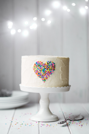 cakestand: Birthday cake Stock Photo
