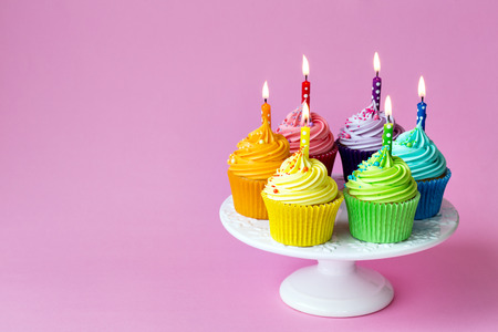 cakestand: Birthday cupcakes on a cake stand