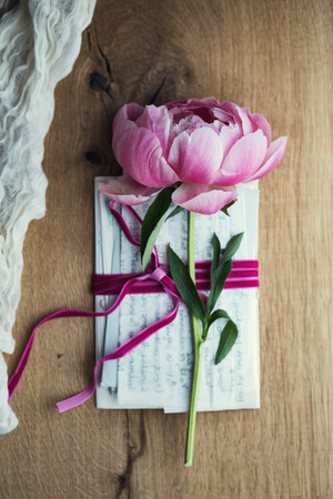 reminisce: Old letters tied with velvet ribbon