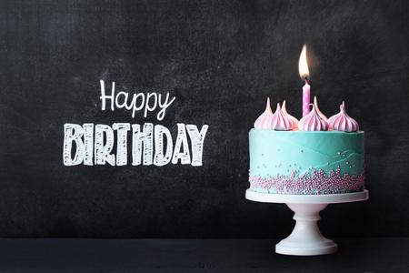 Geburtstag Cupcake vor einer Tafel Standard-Bild - 62967396