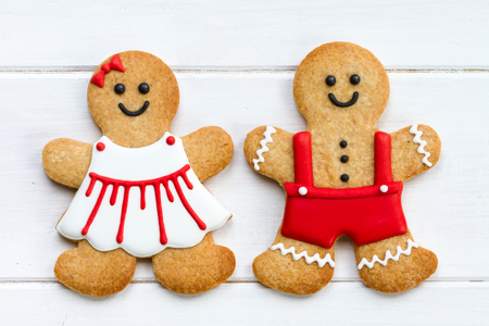 Gingerbread couple for Valentines Day Imagens