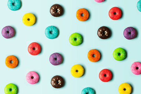 Colorful donut background