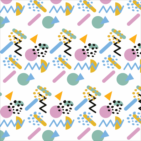 Memphis Style Pattern. Abstract background design perfect for prints, flyers, banners, invitations, special offer and social media.