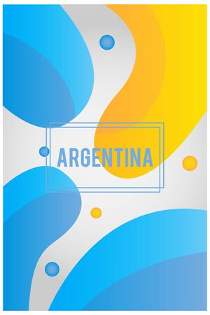 Liquid shape background with the colors of the Argentina flag. Soccer championship. Ready to use in web banners, social media, presentation, flyers, posters and wallpapers. 向量圖像