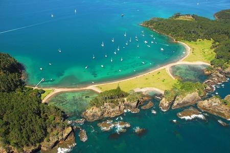 Roberton Island - Bay of Islands, New Zealand - Aerial photo