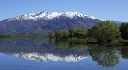Refelction in Lake Wanaka, South Island, New Zealand
