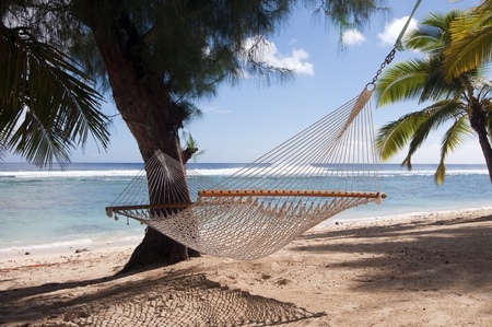 Hammock on a tropical beach, Rarotonga, Cook Islands