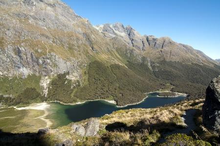 View over Lake Mackenzie - Routeburn Track, South Island, New Zealand