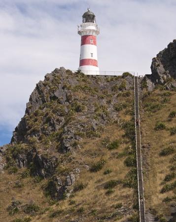 Cape Palliser Lighthouse - Wairarapa, New Zealand Banco de Imagens