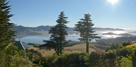 View from Larnach Castle on the Otago Peninsula, New Zealand Banco de Imagens
