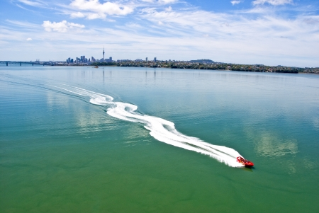 Jetboat on Auckland Harbour
