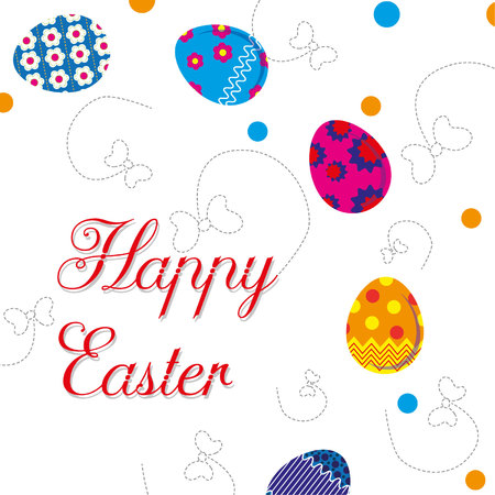 illustration with the words Happy Easter Stock fotó - 72948938