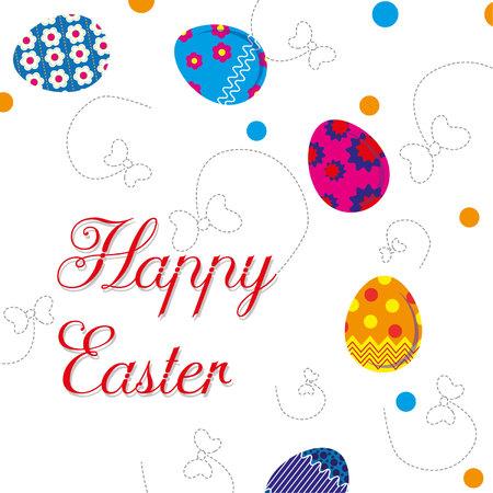 illustration with the words Happy Easter Illusztráció