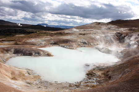 Geothermal activity - lake near Hverir, Iceland