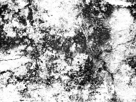 Dark Messy Dust Overlay Distress Background. Black And White Urban Vector Texture Template. Stock Photo