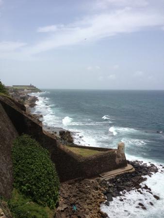 Coastline at Fort Cristobal Puerto Rico