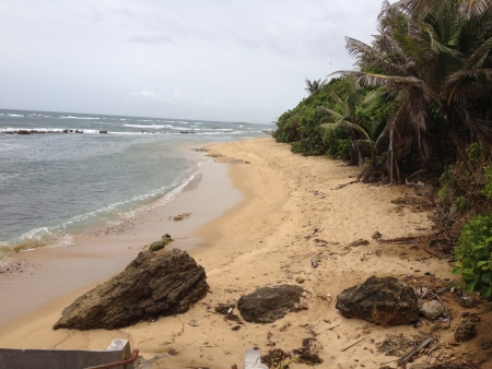 Secluded beach in San Juan