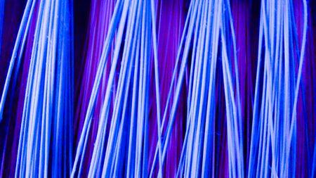 Colored Fibers, Electric Colors Reklamní fotografie - 80700525