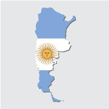Argentina Map Flag