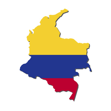 Colombia Map Flag