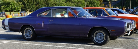 GLOUCESTER, VA- May 11:A Dodge R/T at the 6th Annual 2012 MPCC (middle peninsula car club) meeting at the Main St shopping center in Gloucester Virginia, 2012 in Gloucester Virginia on May 11, 2012.  Stock Photo - 13715023