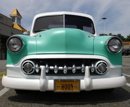 GLOUCESTER, VA- May 12:A 1950 Chevy PU at the relay for life car shows sponsored by Auto Max & the MPCC at the Main St shopping center in Gloucester Virginia, 2012 in Gloucester Virginia on May 12, 2012.  Editorial