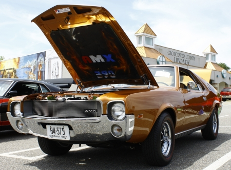 GLOUCESTER, VA- May 12:An AMC AMX at the relay for life car shows sponsored by Auto Max & the MPCC at the Main St shopping center in Gloucester Virginia, 2012 in Gloucester Virginia on May 12, 2012.