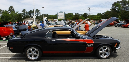 GLOUCESTER, VA- MAY 12:A 427 BOSS at the relay for life car shows sponsored by Auto Max & the MPCC at the Main St shopping center in Gloucester Virginia, 2012 in Gloucester Virginia on May 12, 2012.