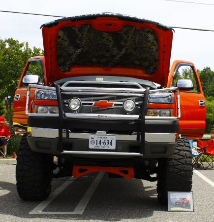 pu: GLOUCESTER, VA- MAY 12:A Chevy 4X4 PU at the relay for life car shows sponsored by Auto Max & the MPCC at the Main St shopping center in Gloucester Virginia, 2012 in Gloucester Virginia on May 12, 2012.