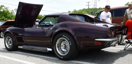 GLOUCESTER, VA- MAY 12:A Corvette at the relay for life car shows sponsored by Auto Max & the MPCC at the Main St shopping center in Gloucester Virginia, 2012 in Gloucester Virginia on May 12, 2012.