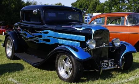 HAMPTON, VA-JUNE 9:A 1932 Ford hot rod at the 3rd annual HCS car show at the Hampton Christian School in Hampton Virginia, 2012 in Hampton Virginia on June 9, 2012.