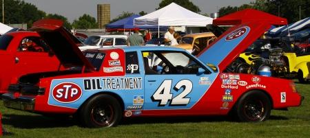 HAMPTON, VA-JUNE 9:A NASCAR Petty Replica race car at the 3rd annual HCS car show at the Hampton Christian School in Hampton Virginia, 2012 in Hampton Virginia on June 9, 2012.